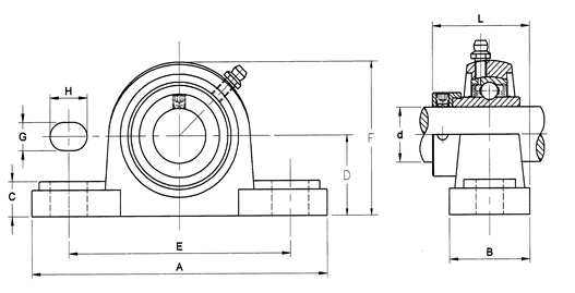 ReliaMark Pillow Block Corrosion Resistant Drawing