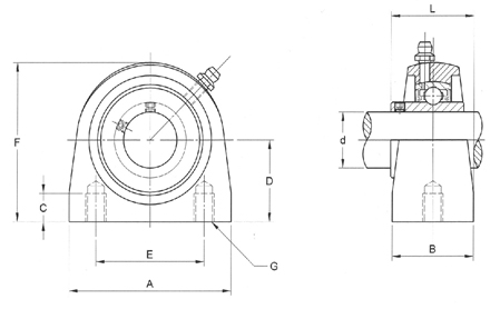 ReliaMark Pillow Block Tapped Base Product Drawing